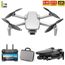Wholesale Best GPS Drone with 5G Wifi FPV 4K HD Dual Camera Brushless Optical Flow RC Quadcopter Smart Follow Me Fly 1KM Mini Dron 201105