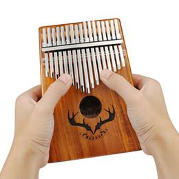 Wholesale Muspor Kalimba 17 Keys Acacia(KOA) Thumb Piano Mbira and Performance Protection Bag , Professional models