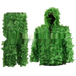 green leaf clothes Australia - Sticky flowers bionic leaves green leaves camouflage Sticky flower Bionic camouflage clothes Geely clothes rvqUe