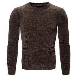 Wholesale men s winter knit sweaters resale online – New Winter Men s Sweater Casual Pullover Mens Warm Sweaters Man Slim Stand Collar Knitted Pullovers Male Coats