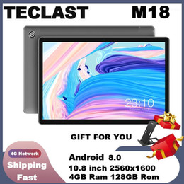tablets android 8.0 UK - Teclast M18 Tablet 10.8 inch 4G Phablet Helio X27 Android 8.0 2560*1600 2.6GHz Deca core CPU 4GB 128GB 8.0MP+2.0MP Dual Camera1