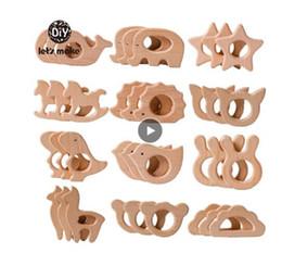 1 STÜCK Baby Beißring Tier Holz Ringe Einhorn Kamera Igel Food Grade Hölzerne Beißriger Pflege Anhänger Kinderkrankheiten Spielzeug im Angebot