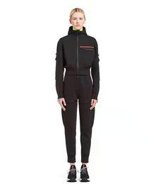 venda por atacado Woemen faixa ternos suéter com capuz com calças esporte trouse magro para senhora com letras zíperes primavera outono Terry tops conjuntos de capuz