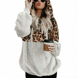 Wholesale sexy animal print sweater online – oversize pane2 autumn and winter women leopard print zipper pocket women s Sweater plush autumn and winter sexy leopard print zipper pocket