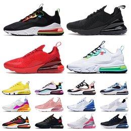 Wholesale hip hop art for sale - Group buy 270 mens womens all black white running shoes react worldwide bubble pack supernova rose pink Hip Hop sports sneakers athletic trainers