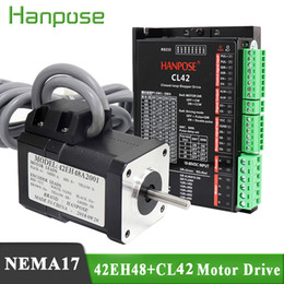 servo driver motor UK - Stepper Motor Hybrid Step-servo motor 42EH48A2001 NEMA 17 2A 0.6N.m 48MM + CL42 Closed Loop Servo Driver CNC Controller Kit