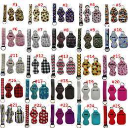 Wholesale 3 Pieces Travel Keychain Holders Kits, Including 30ml Hand Sanitizer Holder Keychain, Wristlet Keychains Lanyard, Chapstick Holder for Tra