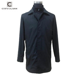 Wholesale cool trench for sale - Group buy CITY CLASS Cool Men Trench Coat Slim Fit Hot Sale Casual Style New Jacket for Men Soft Coat for Spring Autumn CC99887