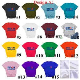 Discount fashion t shirts usa 2020 USA Presidential Election Joe Biden Harries Letters Printed T-shirt Short Sleeve Casual Tops Tees Fashion Colorful