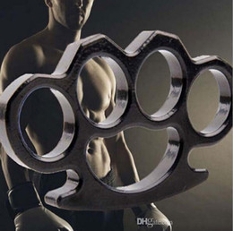 New Gilded Steel Brass Knuckle Duster Color Black Plating Silver Hand Tool Clutch High Quality on Sale