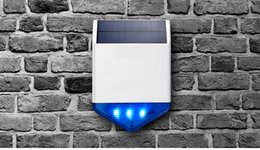 security system panels Australia - FreeShipping Solar Panel Solar Siren SJ1 for G19 G18 W18 8218G W1 GSM Alarm System Security with Flashing Response Sound Waterproof Outdoor