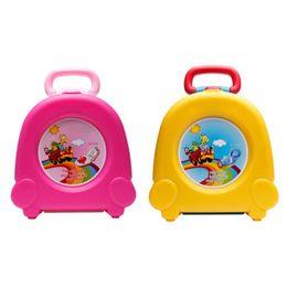 Toptan satış Çocuklar için Carry Lazımlık Tuvalet Eğitimi Taşınabilir Seyahat Tuvalet Eğitmeni Hemen (sarı) LJ201110