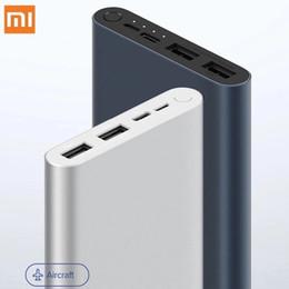 Toptan satış Orijinal Xiaomi Mi Güç Bankası 3 10000 mAh 3 USB çıkışı ile yükseltme, Smart için iki yönlü hızlı şarj 18W max powerbank destekler