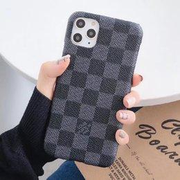venda por atacado Fashion Designer Phone Case para iPhone 11 11Pro max Xs XR Xsmax Top Qualidade de impressão de couro Hard Case Telefone Shell para o iPhone 12
