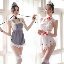 Wholesale uniforms for nurses for sale - Group buy Sexy Lingerie Baby Doll Women Lace Dress Erotic Porno Cosplay for Sex Costumes Underwear Lenceria Sexi Nurse Uniform