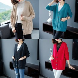 Wholesale woollen sweaters women for sale – oversize qTwEQ Spring and autumn clothing woollen Coat wool Wool new style with Korean autumn cardigan Korean loose sweater coat for women knitte