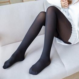 Wholesale black velvet leggings girls for sale - Group buy Girls in Sexy Warm Pants Double Light Leg Leggings Fall winter Women s Models with Velvet thickened False Skin Tones Black