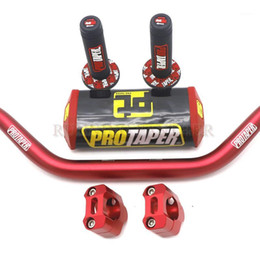 "Motocicleta 28 mm CNC 1-1 / 8 ""Barra de grasa Handlebar Pads para protector Pro Dirt Bike MotorCross1 en venta"