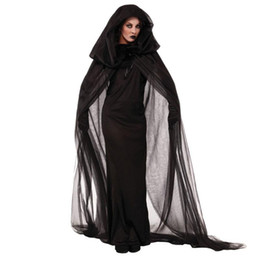 Wholesale women witch costumes online – ideas Umorden Halloween Purim Carnival Black Gothic Witch Costume The Haunted Sorceress Costumes for Women Adult Kids