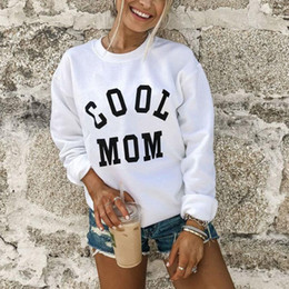 Wholesale women cute tops for sale - Group buy Cool Mom Womens Hoodies Autumn And Winter Print Monogrammed Hoodie Autumn Winter Thick Warm Coat Sweatshirt Cute Punk Tops