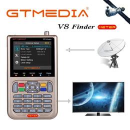 Receiver Signal V8 do Finder Medidor Satfinder Digital Satellite Finder DVB S / S2 / S2X HD 1080p Receptor de TV Sat Decoder Location Finder em Promoção