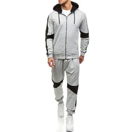 Wholesale nice tracksuits for sale – designer Nice Spring New Hooded Tracksuit Sweater Suit Men Casual Suit Outdoor Sports Men Color Matching Sportswear