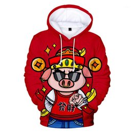 pig hoodies Australia - 2019 Lucky The birth Year 3D Pig Cute Festive Print Hoodies Male Female Funny Sweatshirts Couples Personality Trendy Streetwear1