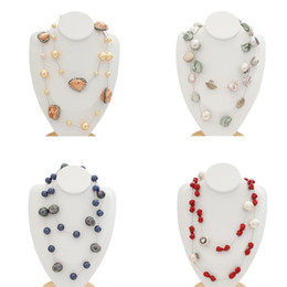 big ethnic jewelry Australia - Fashion Bohemian Jewelry Irregular Big Shell Pearl Baroque Necklaces For Women Ethnic Torques Necklace Statement Gift For Female