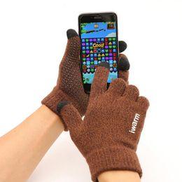 Herren Strick Ski-Handschuhe Anti-Rutsch-Touch Screen Qualitäts-Mann verdicken warme Handschuhe Winter Herbst Männer Fäustling Warm im Angebot