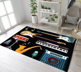 printed electronics Australia - Modern Area Rug Electronic Music Instrument Printed Floor Carpet For Living Room Bedroom Home Decorative Play Mat YIFx#