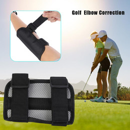 Wholesale golf swings resale online - Golf Swing Training Aid Elbow Support Corrector Wrist Brace Golf Practice Equipment Posture Correction Appliances