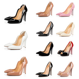 Discount black n white wedding dresses Luxurys Designers Pointed Toes Nude Color Triple Balck Studded Spike PeeP Toe Women Pumps High Heels Wedding Party Dress Shoes