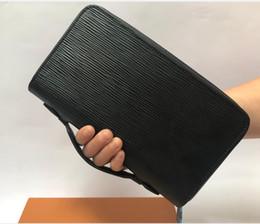 Wholesale best credits cards online – design Best quality men leather brand classic wallet casual long card holder holder pocket fashion wallets men wallet serial number