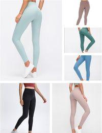 Wholesale 2021 Womens Stylist lu High vfu yoga pants leggings yogaworld women workout fitness set Wear Elastic Fitness Lady Full Tights Solid #10
