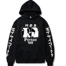mob psycho 100 NZ - 2021 Japanese Anime Mob Psycho 100 Hoodies Men Women Short Sleeve Sweatshirt Anime Manga Hoodies Tops Clothes Y0121
