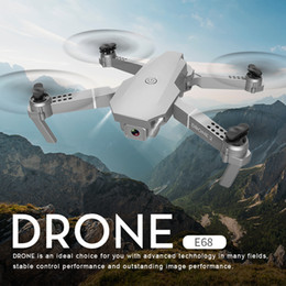Wholesale New E68 Drone HD Wide Angle 4K WIFI 1080P FPV Drones Video Live Recording Quadcopter Height To Maintain Drone Camera Nice Toys 201208