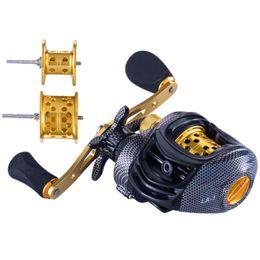 6.3:1 Baitcast Fishing Reel 13 Bearing Large Line Capacity Lightweight Left-handed Right-handed Bait Casting Fishing Wheel Tool T191015 on Sale