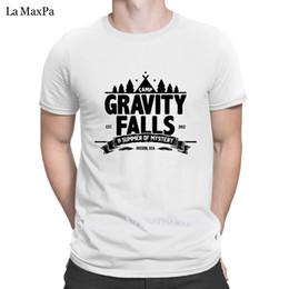 Wholesale personalized t shirts for sale – custom Personalized Fitted T Shirts For Men Camp Gravity Falls T Shirt men Summer Trendy Men Tshirt O Neck Cute
