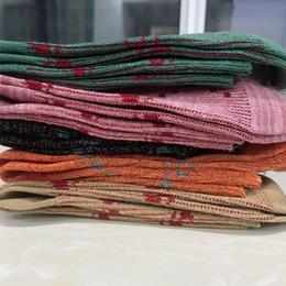 Ingrosso Donne Lettera G Socks Donne Calze in cotone traspirante Mix Color Fashion G Style Style Galks Regalo per amore di alta qualità