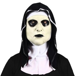 New Costume Nun Ghost Party con maschera da foodscarf Latex Halloween Up Dress Scary Jbveu