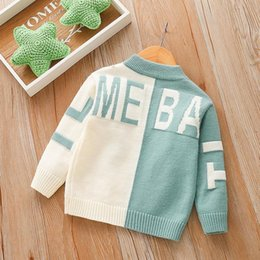 toddler girl fall fashion 2020 - Toddler Girl Fall Clothes Sweater 2020 Boys Knitted Sweater Fashion Children's Clothing Letter Baby O Neck Children