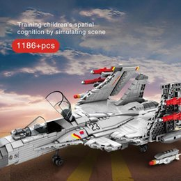 toy military airplanes 2020 - Sembo 1186pcs Airplane Building Blocks J-15 Shipborne Fighter Military City Plane Helicopters Brick Construction Childre