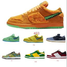 Discount mens casual shoes genuine leather 2020 Travis Scotts Dunk QS SP University Red Mens Running Sports Shoes Low Chunky Dunky shadow Sneaker StrangeLove Skate