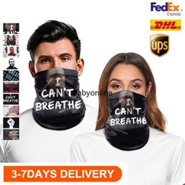 Wholesale black magic online – design US STOCK Cycling Masks Scarf Unisex Bandana Motorcycle Magic Scarves i cant breathe Black Lives Matter Face Shield Headscarf Neck Outdoor