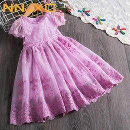 Wholesale embroidery for dresses for sale - Group buy Spring Summer Flower Girl Dress Lace Embroidery Dresses For Girls Party Dress Princess Wedding Ball Gown Children Clothing1