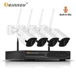 Einnov 4CH CCTV NVR Kit Home Wireless Security Camera 1080P System Waterproof Outdoor Video Surveillanc Kit IP Camera HD P2P1 on Sale