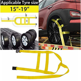 2PCS Tire Fixing Lashing Strap For Motorbike Tension Belt Transport Fastening Fitting Tow Dolly Basket Straps Vehicle Accessory
