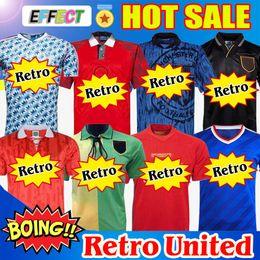 Camisas de Futebol Retro Manchester United 07 08 90 92 United UCL final utd Home 1994 1998 United RONALDO BECKHAM CANTONA KEANE SCHOLES GIGGS Camisas em Promoção