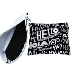 mens designer bags Canada - DIY Storage Bags Sublimation Blanks Zipper Wallets Originality Portablecanvas Bag Mens Womens Small Wallet New Arrival 8 5jy M2