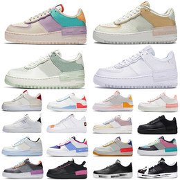nike air force 1 shadow forces one shoes af1 airforce scarpe da corsa per uomo donna bianco nero arancione rosso Mens trainer grano rosa Donna dunk 1 sport sneakers Scarpe outdoor in Offerta